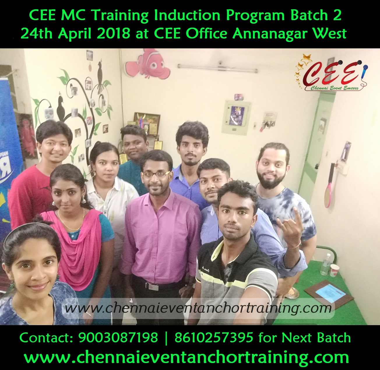 Photos and Videos: CEE MC Training Induction Program and Networking Meeting Batch 2 at Annanagar