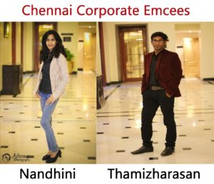 Tamilnadu corporate Emcees Nandhini and Thamizharasan