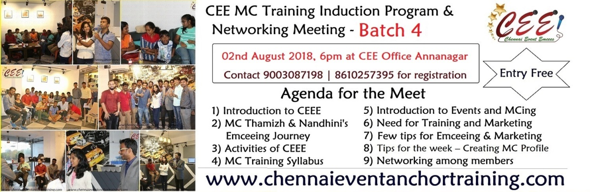 MC Anchor Training in Chennai