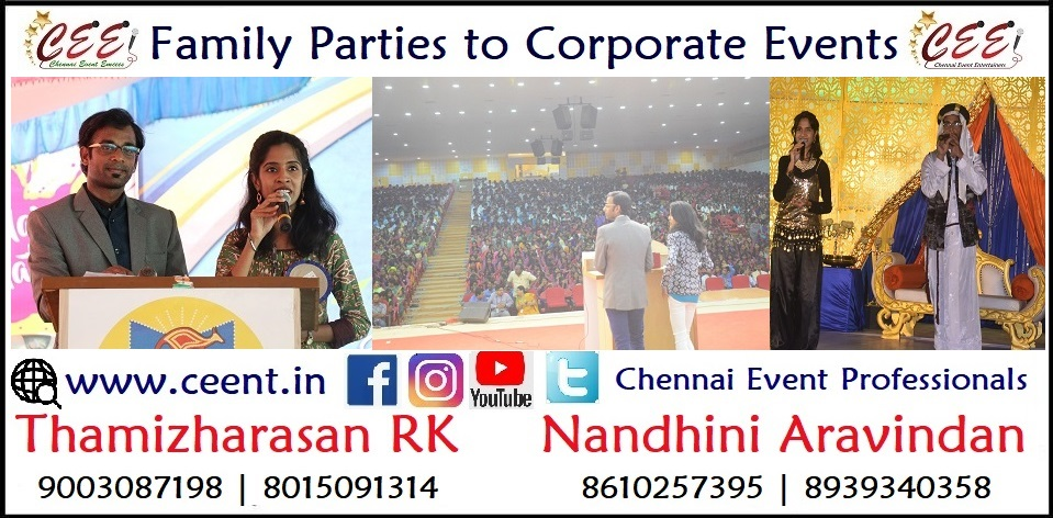 Chennai Event Emcees Entertainers Professionals Nandhini and Thamizharasan 2